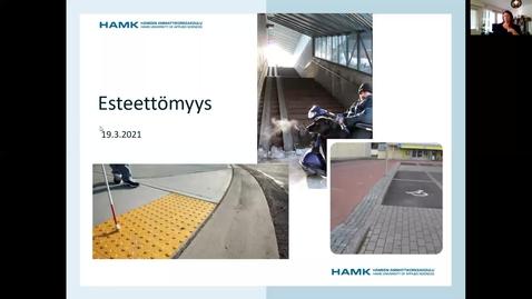 Thumbnail for entry Esteettömyys 19.3.2021/ Pauliina