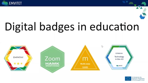 Thumbnail for entry Digital Badges in Education