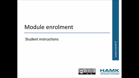 Thumbnail for entry Pakki Student Instructions: Module Enrolment
