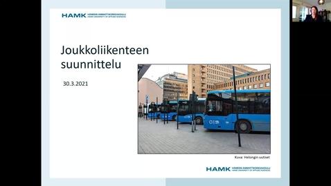 Thumbnail for entry Joukkoliikenteen suunnittelu 30.3.2021/ Pauliina