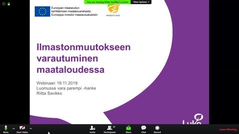 Thumbnail for entry Taustatietoa ilmastonmuutoksesta