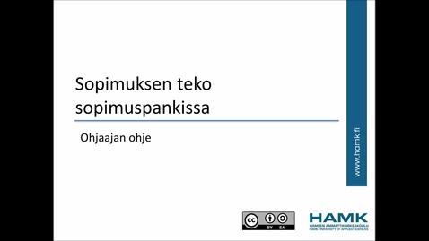 Thumbnail for entry Ohjaajan Peppi-ohjeet: sopimuksen teko sopimuspankissa