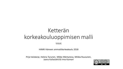 Thumbnail for entry Ketterän korkeakouluoppimisen malli
