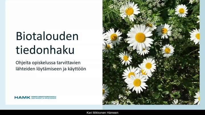 Thumbnail for channel HAMKin kirjasto / HAMK Library