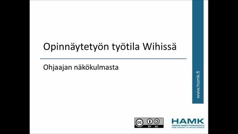 Thumbnail for entry Wihi-ohjeet: ohjaajan toiminnot Wihin työtilassa