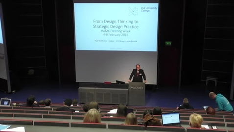 Thumbnail for entry Paul McElheron - From Design Thinking to Strategic Design Practice