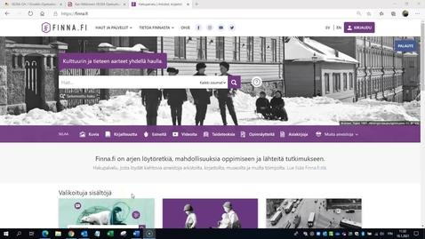 Thumbnail for entry Finna.fi -palvelun käytön ohjevideo