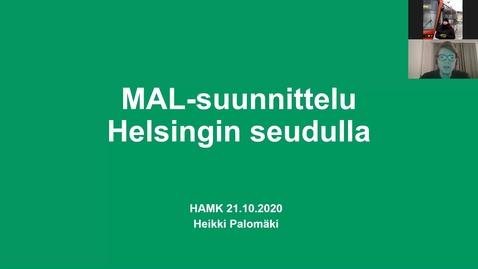Thumbnail for entry Heikki Palomäki, HSL/ MAL-suunnittelu 21.10.2020