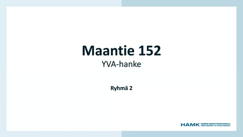 Thumbnail for entry YVA-purku, Pauliinan ryhmät 12.3.2021