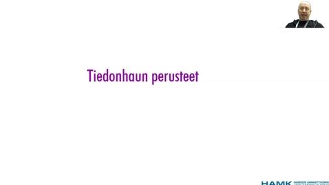 Thumbnail for entry Tiedonhaun perusteet