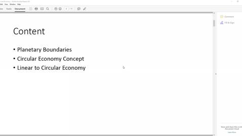 Thumbnail for entry Circular Economy -Ira