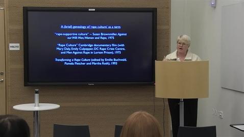 "Thumbnail for entry 141209 Rentschler: ""Social Media and Feminist Activism against Rape Culture"""
