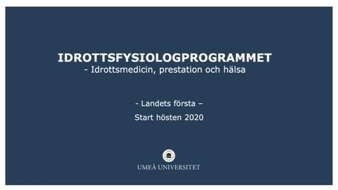 Miniatyr för inlägg Presentation av Idrottsfysiologprogrammets innehåll