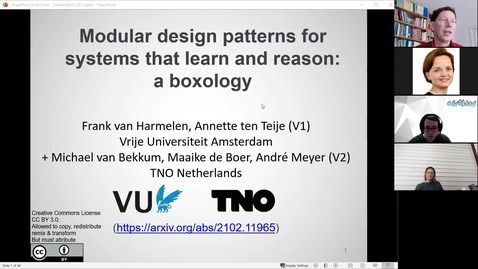 Thumbnail for entry Frank van Harmelen: A boxology of design patterns for systems that learn and reason