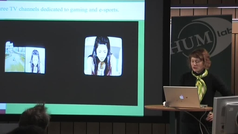 """Thumbnail for entry 081021 Hjorth: """"The big bang: A case study of mobile media and gaming as new media in South Korea"""""""