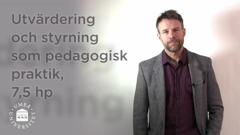 Thumbnail for entry Utvärdering och styrning som pedagogisk praktik