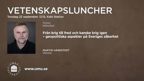 Thumbnail for entry Vetenskapslunch_22sept_Martin_Hardstedt