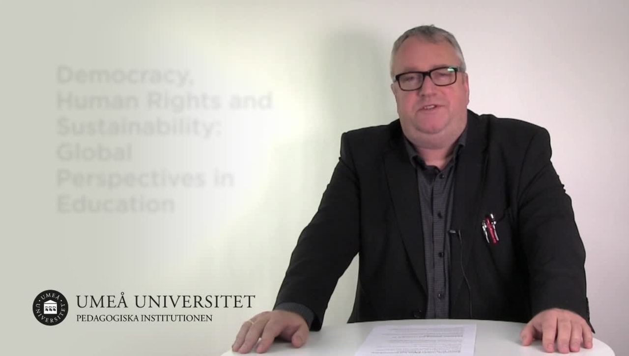 Democracy, Human Rights and Sustainability: Global Perspectives in Education