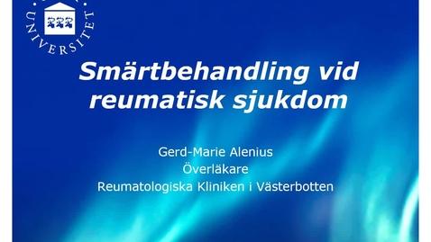 Miniatyr för inlägg Smärtläkemedel Gerd-Marie Alenius