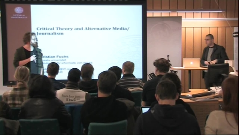 """Thumbnail for entry 111215 Fuchs: """"Critical Theory and Alternative Media/Journalism"""""""