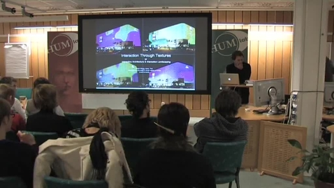 """Thumbnail for entry 081007 Wiberg: """"Interactive Architecture and Interaction Landscaping"""""""