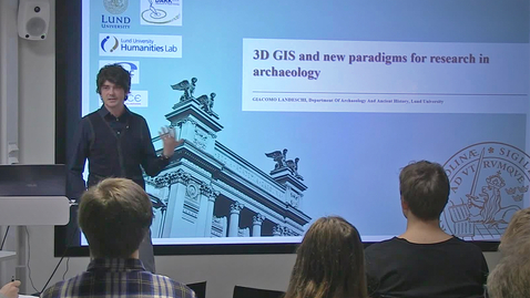 """Thumbnail for entry 181130 Landeschi: """"3D GIS and new paradigms for research in archaeology"""""""