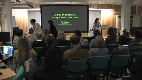 """Miniatyr för inlägg 101012 Pressman: """"Digital Modernism: Making it New in New Media"""""""
