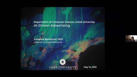 Thumbnail for entry Johanna Björklund: The AI behind the Advertising