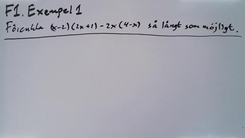Thumbnail for entry Föreläsning 1b - Basfärdigheter i algebra