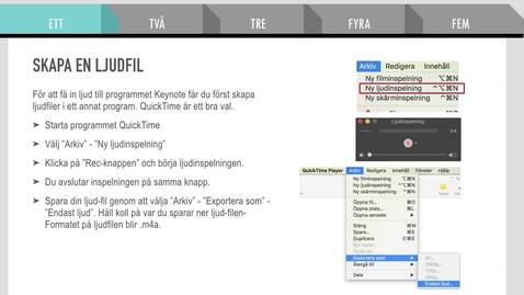 Miniatyr för inlägg Keynote till film - Mac