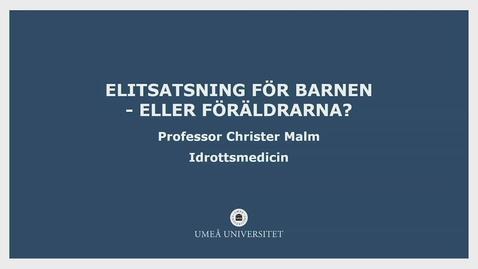 Thumbnail for entry Christer - Fika efter en forskare