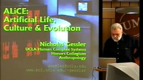 """Thumbnail for entry 050920 Gessler: """" ALiCE - Artificial Life, Culture and Evolution"""""""