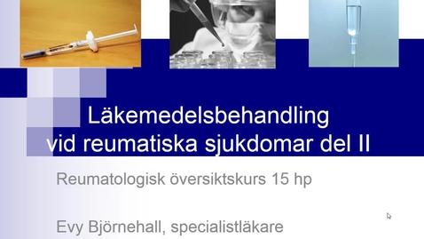 Thumbnail for entry Farmakoterapi del II Evy Björnehall