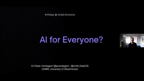 Thumbnail for entry Pieter Verdegem: AI for Everyone?