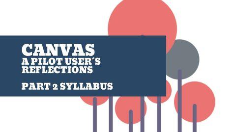 Miniatyr för inlägg Canvas syllabus tool