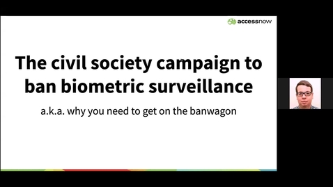 Thumbnail for entry Daniel Leufer: The Civil Society Campaign to Ban Biometric Surveillance