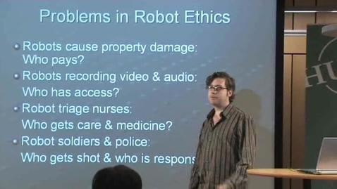 "Thumbnail for entry 070531 Asaro: ""Robot Ethics"""