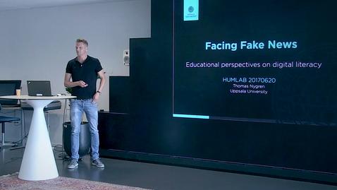 "Thumbnail for entry 170620 Nygren: ""Facing Fake News"""