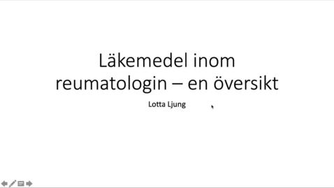 Miniatyr för inlägg Läkemedel inom reumatologin