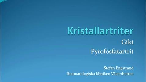 Miniatyr för inlägg Kristallartriter Stefan Engstrand