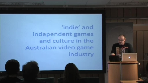 """Thumbnail for entry 110928 Moore: """"'indie' and independent games and culture in the Australian video game industry"""""""