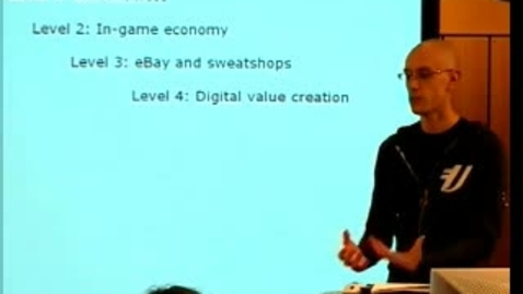 """Thumbnail for entry 050308 Zackariasson: """"Producing Massively Multiplayer Online Games: The Politics of Inscriptions"""""""