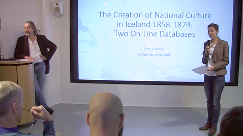"""Thumbnail for entry 161003 Gunell & Dagsson: """"Databases, digital mapping and folk narratives in Iceland """""""