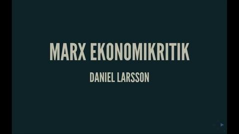 Thumbnail for entry Marx4: Ekonomikritik