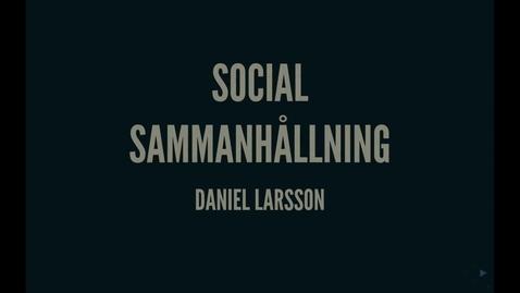 Thumbnail for entry Durkheim2: Socal sammanhållning