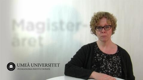 Thumbnail for entry Magisteråret i pedagogik