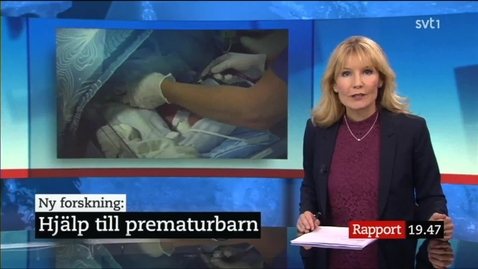 Thumbnail for entry Nyhetsinslag - Hjälp till prematurbarn