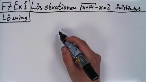 Thumbnail for entry Föreläsning 7b - Basfärdigheter i algebra