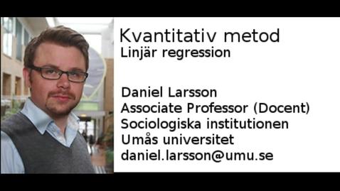 Thumbnail for entry Linjär regression