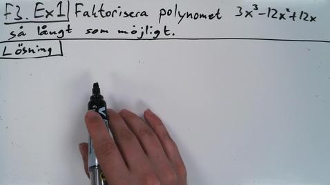 Thumbnail for entry Föreläsning 3b - Basfärdigheter i algebra